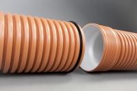 Гофрированная канализационная труба Икапласт SN 16 110x96 мм